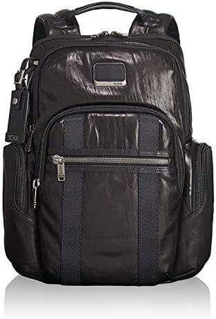 TUMI Alpha Bravo Nellis Leather Laptop Backpack 15 Inch Computer Bag for Men and Women Black product image