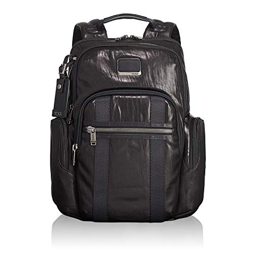 "Tumi Alpha Bravo - Nellis Laptop Backpack 15"", Leather Zaino Casual, 40 cm, 22.28 liters, Nero (Black)"