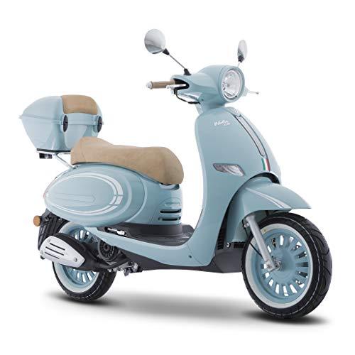 Motocicleta Italika de Motoneta- Modelo VITALIA150 AZUL BLANCO