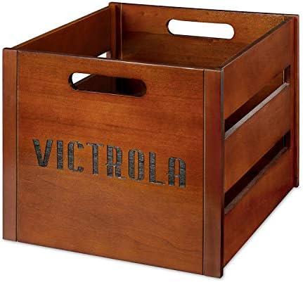 Victrola Wooden Record Crate Mahogany Model VA 20 MAH product image