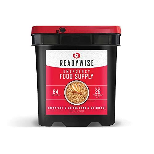 ReadyWise Emergency Freeze Dried Breakfast and Entree Bucket - 84 Servings
