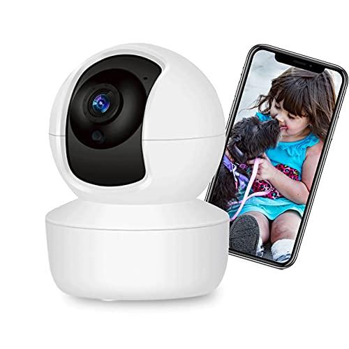 Câmera de Segurança WiFi XFTOPSE Monitoramento 360º 4K HD Camera IP Sem Fio com Áudio Bidirecional, Detecção de Movimento, IR Visão Noturna, Baba Eletronica para Bebê, Animal de Estimação, Idoso