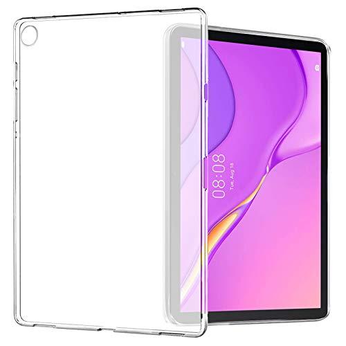Yoowei Cover Compatibile con Huawei MatePad T10S 10.1 (AGS3-L09 AGS3-W09) e T10 9.7 (AGR-L09 AGR-W09), Custodia Posteriore Traslucida in TPU Flessibile Silicone Ultra Sottile e Leggera Caso