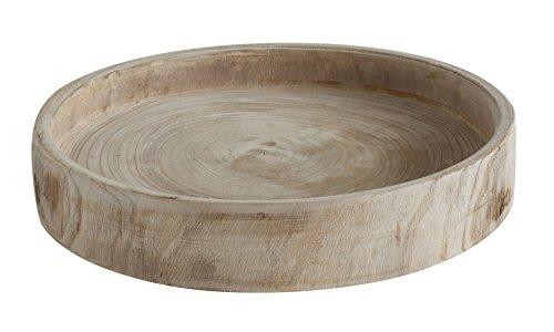 Creative Co-Op Paulownia Wood Hand Carved Tray