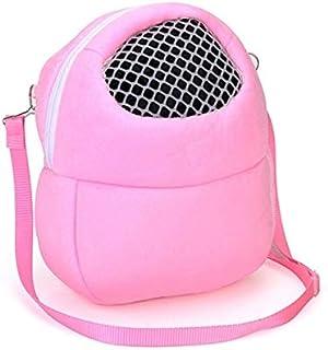 ペットキャリアバッグ、ペットのハムスターキャリア、ペットキャリアバッグ、ユニークな通気性メッシュデザイン、小さなペットのサイズに適した:M HeFeiYuTongGuangGaoChuanMei (Color : Pink)