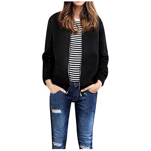 Damen Sweatjacke Mantel Frauen Jacken Frauen Mantel Pure Farbe Reißverschlussmäntel...