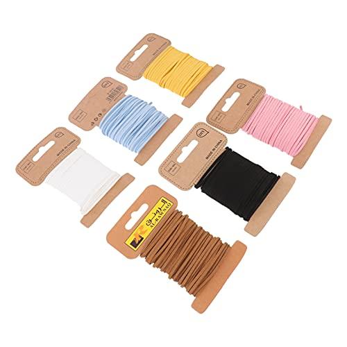 MILISTEN 6 Piezas de Cordón de Gamuza de Imitación Cuerda de Cuerda de Cuero para La Fabricación de Joyas Pulsera de Borlas Collares Longitud de Pulgadas