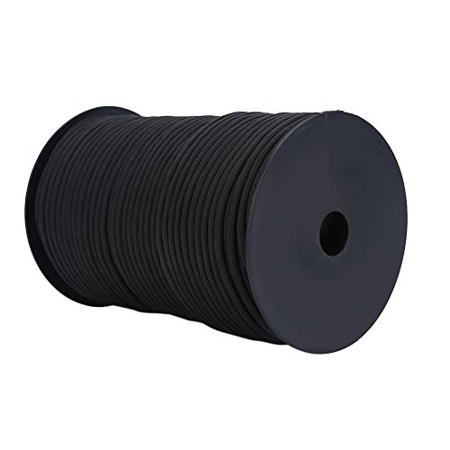 VGEBY 100M Multi Function Paracord Roll 9 Strand Core Parachute Cord Polypropylene and Polyester (Color : Black)