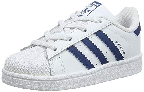 Adidas Unisex Baby Superstar El I Sneaker, Weiß (Footwear White/Footwear White/Legend Marine 0), 24 EU