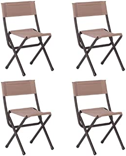 (4) COLEMAN Portable Outdoor Camping & Hunting Woodsman II Folding Chair Stools