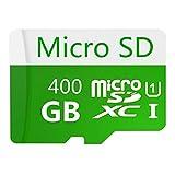 Tarjeta de memoria Micro SD de 400 GB de alta velocidad diseñada para smartphones Android, tabletas Clase 10 SDXC con adaptador (400 GB)