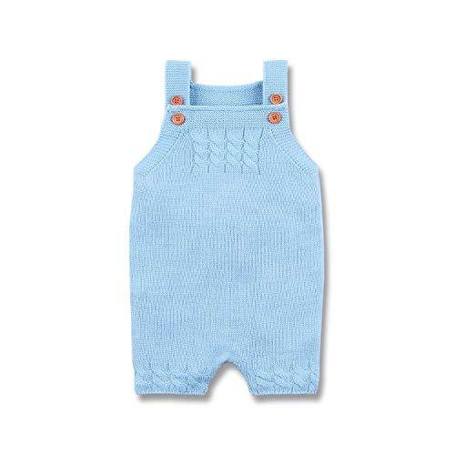 mimixiong Mono de Mameluco de Baby Boys Vestidos sin Mangas de una Sola Pieza Vestidos Vestidos(Azul,6-12 Meses)