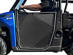 SuperATV Aluminum Doors for 2017 Polaris Ranger XP 1000 | Made with Lightweight Multi-Blend Aluminum | Powder Coated Black | Automotive Style Latch | Ideal Height for Comfortable Ride | Pre-Assembled