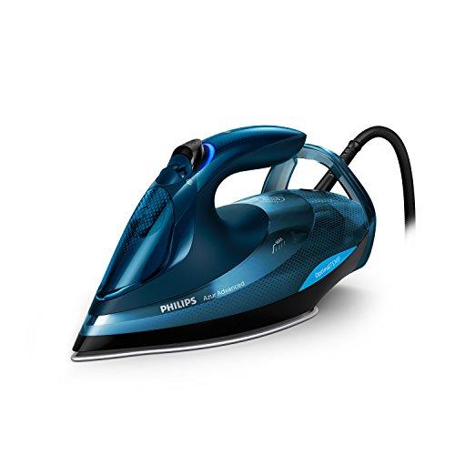 Philips GC4938/20 - Plancha (Plancha a vapor, Suela de T-ionicGlide, 3 m, 240 g/min, Azul, 55 g/min)