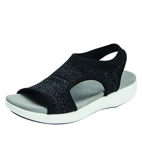 Alegria TRAQ Qeen Womens Smart Walking Shoe Funplex Black 8 M US