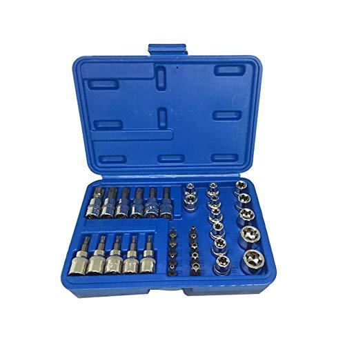 Peanutaod 34 Teile/Satz E4-E20 E Typ Bit Steckschlüssel Kopf T10-T60 TT10-TT55 Torx Sternhülse Set Auto Reparatur Handwerkzeuge