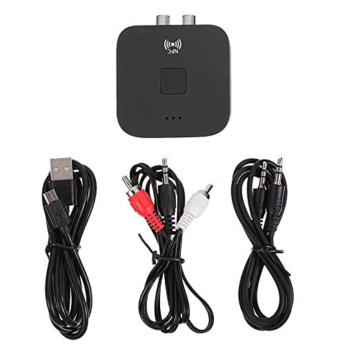 SOLUSTRE Receptor de Audio Inalámbrico Portátil Adaptador de Audio Universal Reproductor de Música de Sonido para Altavoces