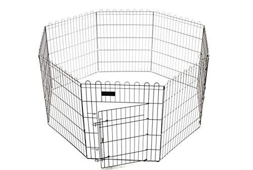Ferribiella Recinto modulare per Cuccioli, Cani, Gatti, roditori, Otto Pannelli cm. 61 x 46 h richiudibile!