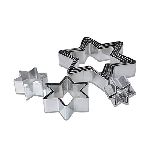 tianxiangjjeu 10 Stks RVS Koekjesvorm Unieke Ster Taart Snijden Bak Decoratie Gereedschap multi