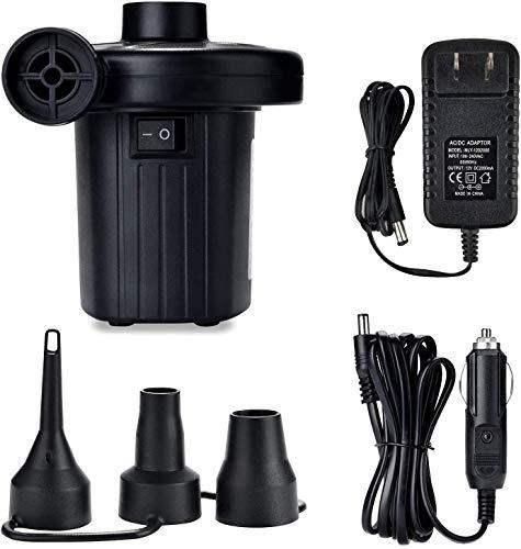 YLOVOW Tragbare Elektrische Luftpumpe Für Luftmatratze Aufblasbare Pool Floats Wasserspielzeug Raft-Bett-Boot-Pool-Spielzeug Mit Düsen 100-240V AC / 12V DC