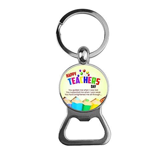Keyjiang sleutelhanger decoratie eigenaar leraar kleur glas voor mannen vrouwen sieraden geschenk flesopener R