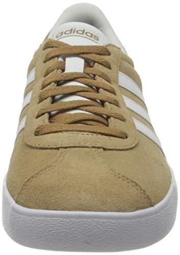 adidas VL Court 2.0, Zapatillas de Deporte Hombre, Cardboard FTWR White Grey Five, 42 2/3 EU