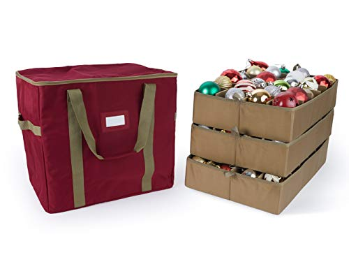 Covermates Keepsakes - 96PC Adjustable Ornament Storage Bag