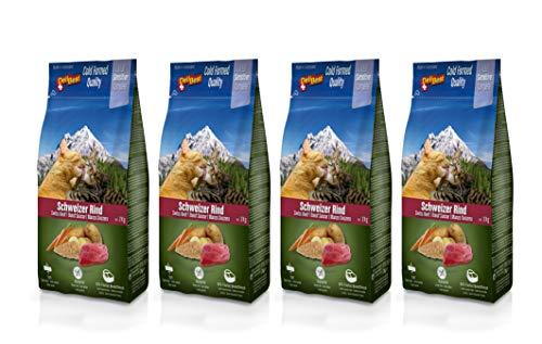 DeliBest Adult Sensitive Complete Cat Rind I Trockenfutter für Katzen Adult I aus 100% Schweizer Rindfleisch I getreidefrei & ohne andere Zusätze I Katzenfutter kaltgepresst I 4x 2kg