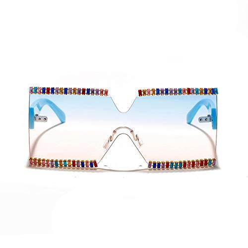 Gafas de Sol Gafas De Sol Cuadradas Sin Montura para Mujer Steampunk Gafas De Sol De Gran Tamaño Gafas De Sol Vintage para Hombre Sombras Uv400 Oculos