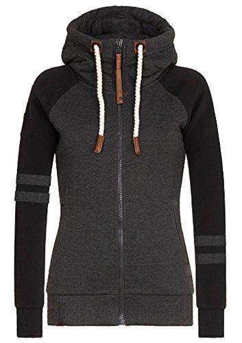 Hiistandd damskie bluzy z kapturem bluza zimowa ciepła bluza z kapturem zapinana na zamek błyskawiczny z kapturem bluza z kapturem odzież wierzchnia kurtka płaszcz długi rękaw sweter długie topy sweter z kapturem