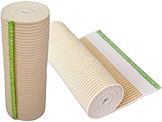 "GT Cotton Elastic Bandage w/Hook & Loop Closure On Both Ends, 6"" Width - 2 Pack"