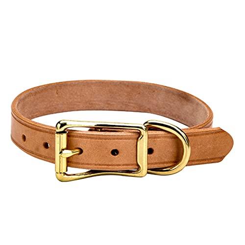 ZZCR Collar De Perro Mascota Collar De Cuero Suave Anti-Golpes Collar De Perro Pequeño Y Mediano Collar De Perro Collar De Hebilla Marrón S