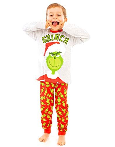 Conjunto de Pijamas Largos para niños de Grinch para niños