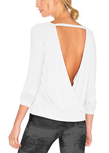 Design: Long sleeve, sexy open back, solid color, loose design, soft, lightweight, comfortable to wear everyday Wonder for fall winter out, daily wearing, casual out, school, reunion, party, club, vacation, holiday, and so on Super soft, lightweight,...