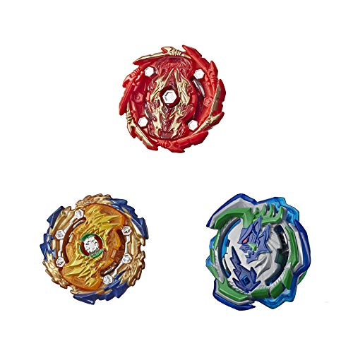 BEYBLADE Burst Rise Hypersphere Battle Hunters 3-Pack -- Wizard Fafnir F5, Ogre O5, Bushin Ashindra A5 Battling Top Toys (Amazon Exclusive)