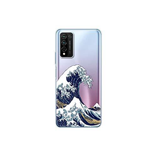 Para Honor 10X Lite Caso de Silicona TPU Suave Cubierta Trasera del Teléfono de la Caso Para Huawei Honor 10X Lite Bumper 10XLite Funda Etui Bolsa Shell-14064-Para honor 10x Lite