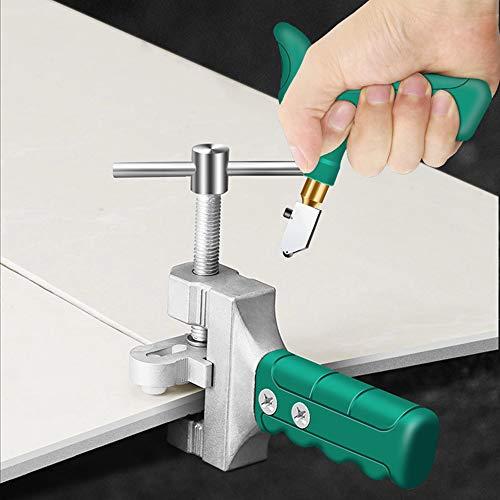 QYY Glasschneider-Tool-Kit, Handheld Glasfliesen-Detacher, Fliesenmesser Haushaltsmesser Diamant-Glasschneider für Fliesen & Glas