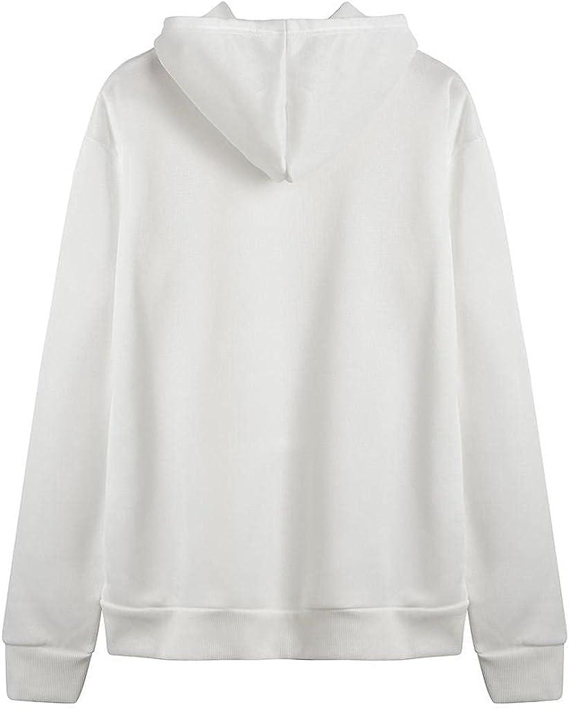 Hessimy Zip Up Hoodie Women Oversized,Women's Active Casual Zip-up Hoodie Jacket Long Sleeve Comfortable Lightweight Sweatshirt Plain Hoodies