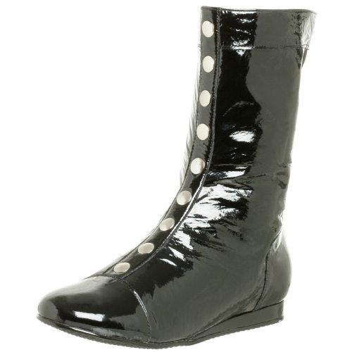 Natural Comfort Damen K.O. Flat Midshaft Stiefel, Schwarz (schwarzer Lack), 41 EU
