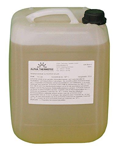 Solarflüssigkeit 10 l gelb Konzentrat bis -58° C Frostschutz, Solarfluid, Solarliquid, Wärmeträgermedium