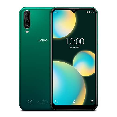 WIKO VIEW4 LITE Smartphone, 4000 mAh Akku, 6.52 Zoll (16,5 cm), Dreifach-Kamera, 32 GB + 2 GB, Dual-SIM, Android 10, Deep Green