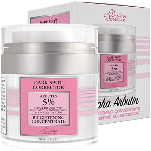Divine Derriere Dark Spot Corrector with Alpha Arbutin Cream (Glycosylated Hydroquinone) Underarm Whitening Cream - Intimate Area Skin Lightening Cream