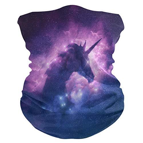 XIXIKO Galaxy Einhorn Tier Magic Star Bandana Gesichtsmaske Schutz Staub UV Multifunktionale Halstuch Schlauchschal für Damen Herren Outdoor-Sport Wandern