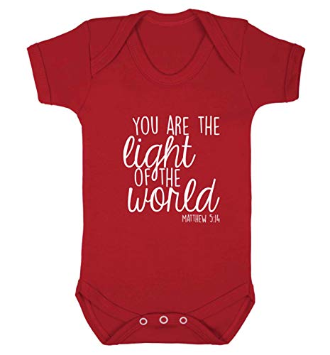 Flox Creative Gilet pour bébé You are The Light of The World - Rouge - XS