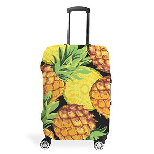 Toomjie Bagage Cover Wasbaar Spandex Bagage Koffer Cover Protector Anti-Water Stofdichte Case Ananas Fruit afdrukken
