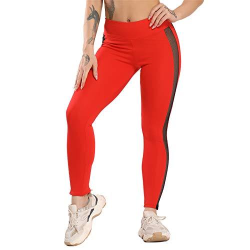 WMNU Women Yoga Pants High Waist Gym Leggings Workout Running Activewear 2020 New Seamless Leggings Hollow Sport Trainning Wear Red