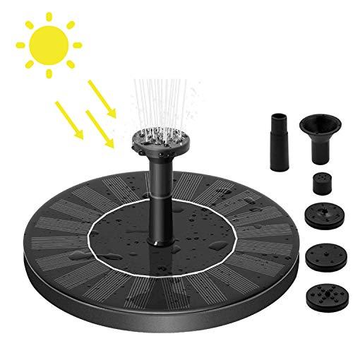 Solar Springbrunnen,Solar Teichpumpe Solar Schwimmender Fontäne Pumpe 7V 1.5W Teichpumpe Brunnen mit Solar Panel Garten Wasserpumpe,Monokristalline Solarpumpe für Garten,Vogel-Bad,Teich,Fisch-Behälter