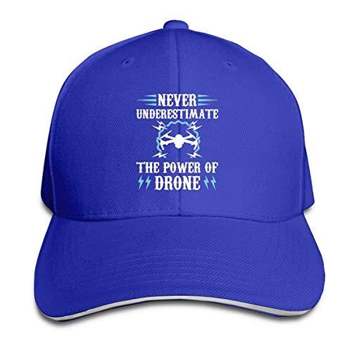 zsxaaasdf Unterschätzen Sie Niemals die Kraft der Drohne Verstellbarer Sandwich Cap Baseball Cap Casquette Hut