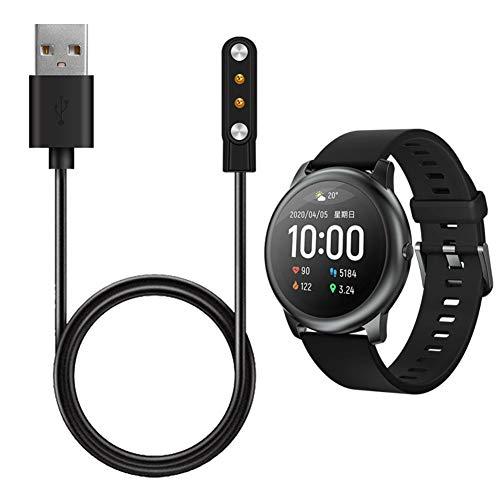 Kooshy Cargador Compatible para Reloj Inteligente Haylou Solar LS05, Cable de Carga USB para Xiaomi Haylou Solar LS05 Cargador de succión magnética de 2 Polos