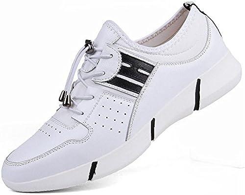 Herren Leder Turnschuhe 2018 Frühjahr Sommer Neue Leder Sportschuhe Trend Herren Freizeitschuhe British LUN Casual Lederschuhe (Farbe   Weiß, Größe   41)